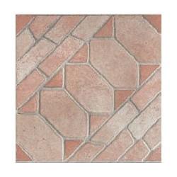Pavimento Geometrico Cotto Antico 25x25