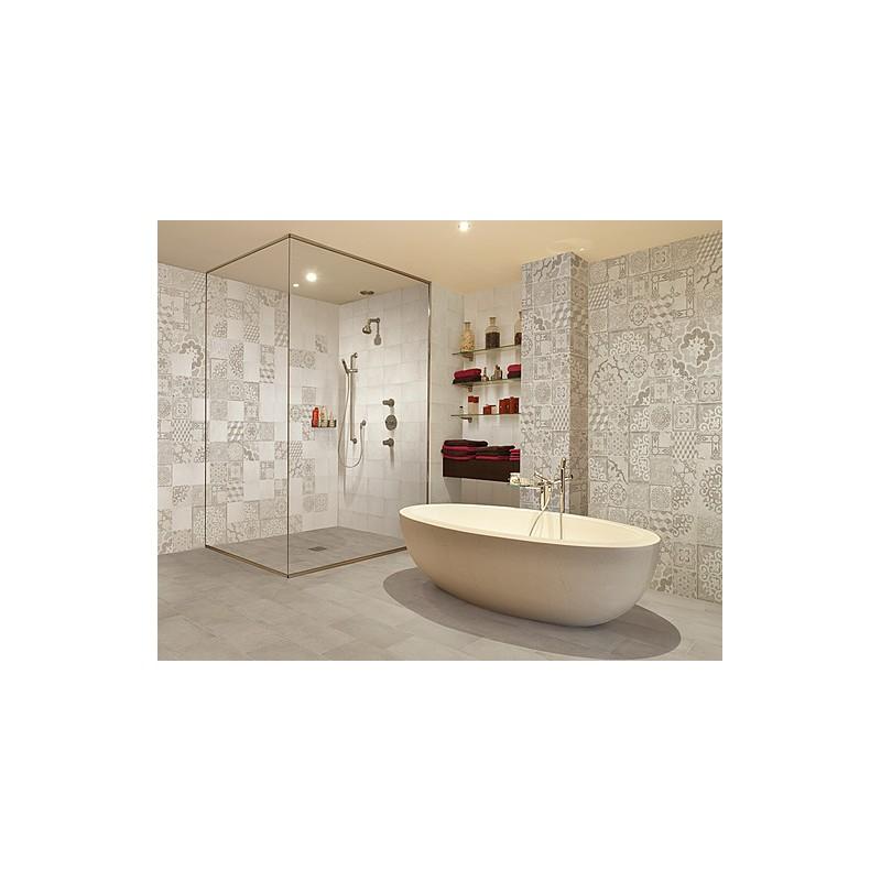 Rivestimento domus cementine grigio di dio ceramiche online - Costo rivestimento bagno ...
